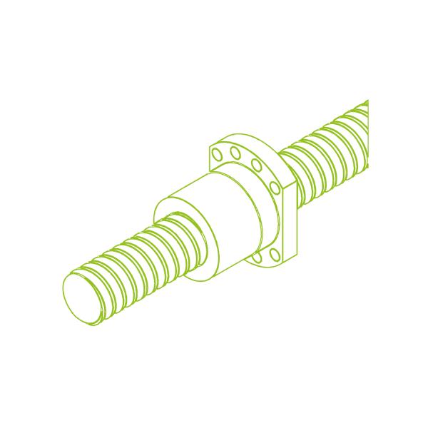 Napęd ze śrubą kulową i nakrętką cylindryczną KGT-F