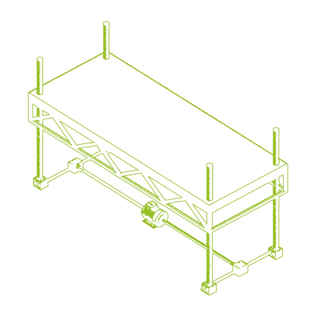Regulacja wysokości stołu montażowego