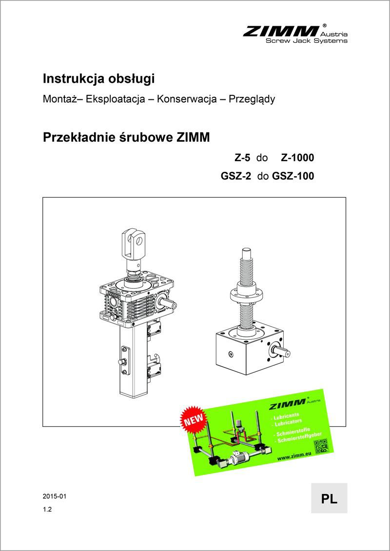 Instrukcja obsługi | Przekładnie śrubowe | Polski