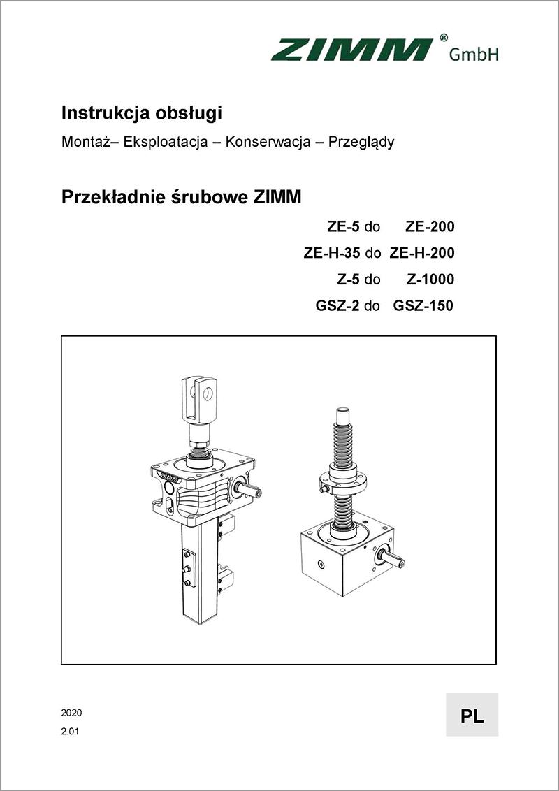 Instrukcja obsługi 2.0 | Przekładnie śrubowe | Polski