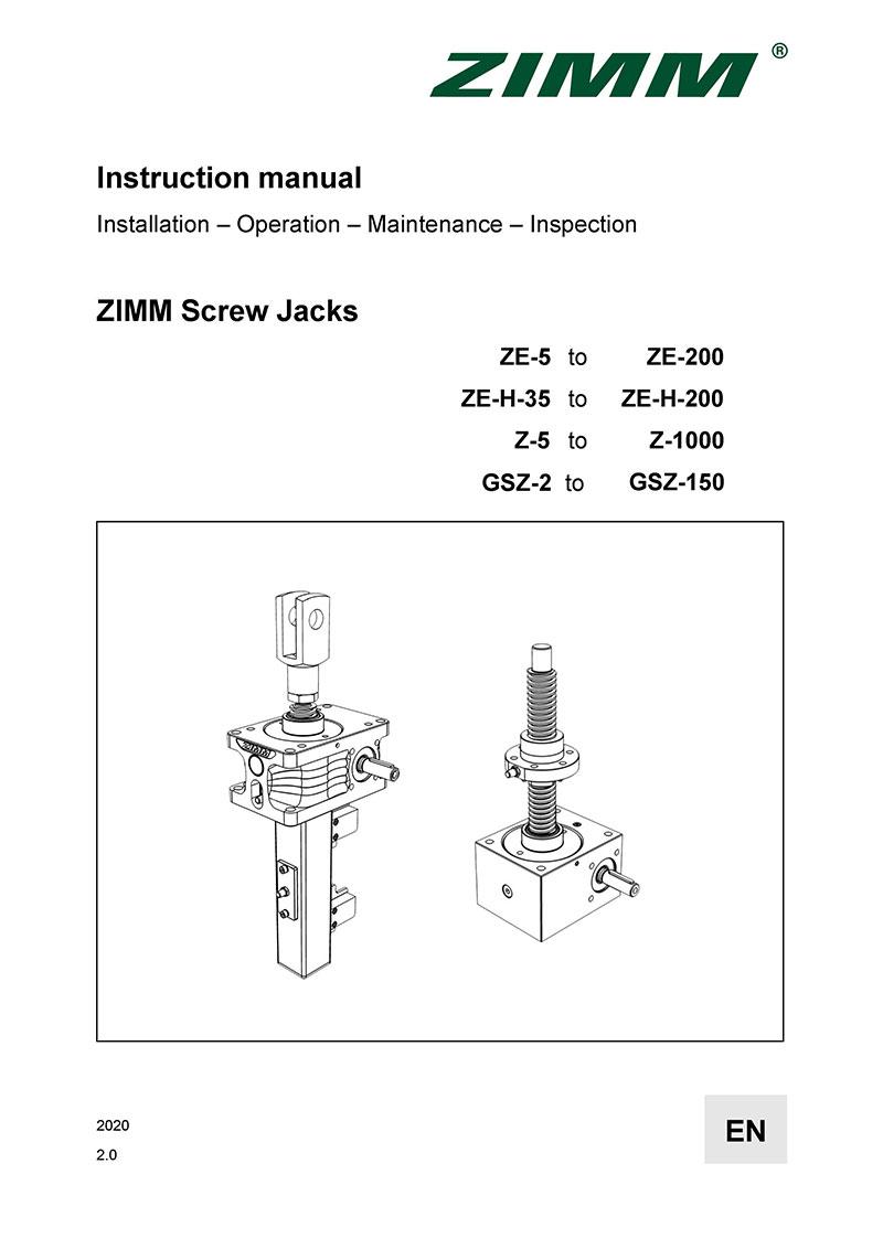 Instrukcja obsługi 2.0   Przekładnie śrubowe   Angielski